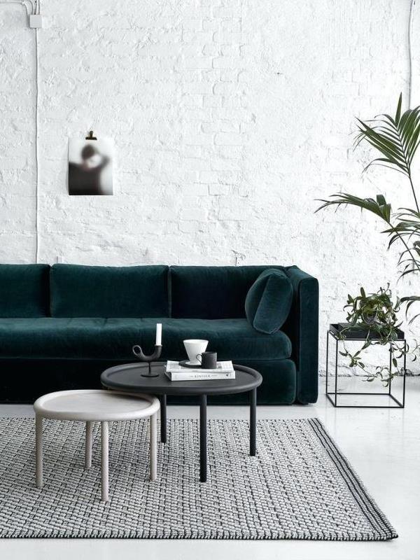 divano color verde petrolio