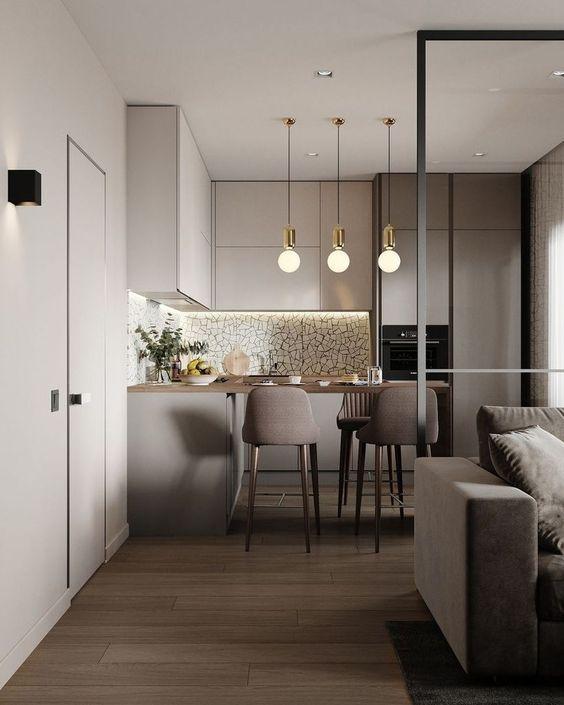 Cucina e living open space - Visioninterne : Visioninterne